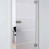 puerta de cristal abatible