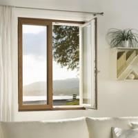 ventana practicable oscilo batiente pvc bicolor